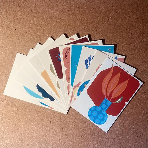 "Cartes postales ""Jusqu'ici ça va"""