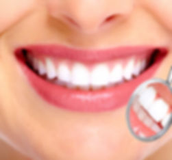 Woman smiling showing teeth