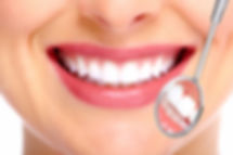 Smiling Lady at the dentist
