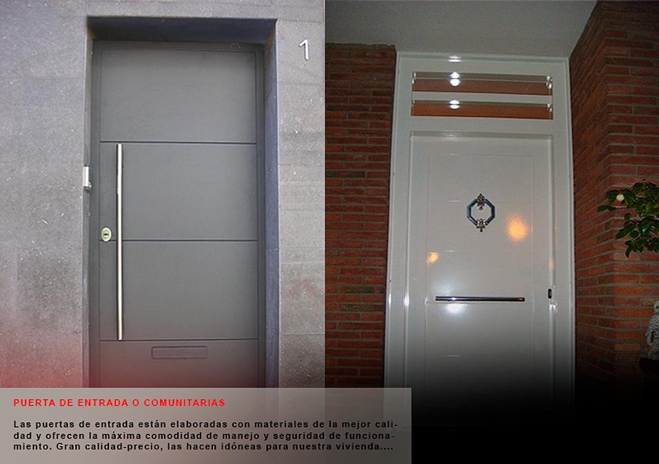 Cerrajer a general puertas de seguridad y cerramientos for Modelos de puertas principales