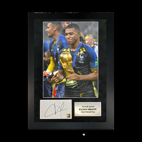 Kylian Mbappé | A3 Signed Photo Frame