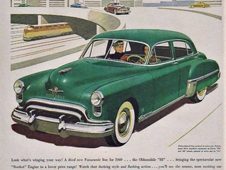 Sales Ad Saturday- Oldsmobile Rocket 8- The New Thrill