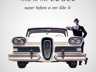 Sales Ad Saturday- What's in a name? Ford begins work on the Edsel