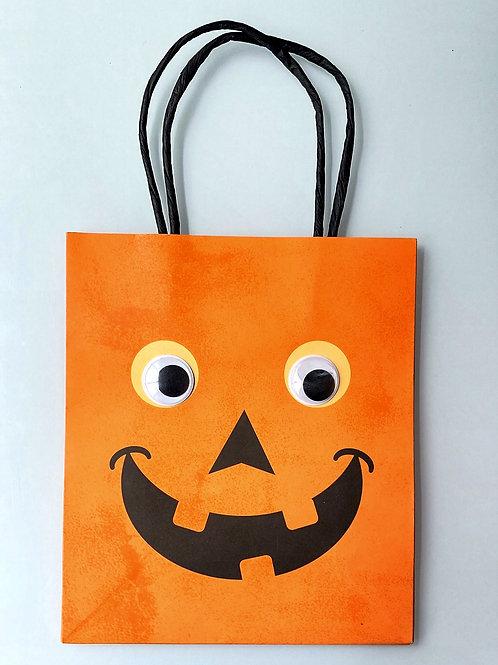 Pochette cadeau Halloween - Citrouille