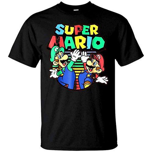 T-Shirt Super Mario Luigi Enfant