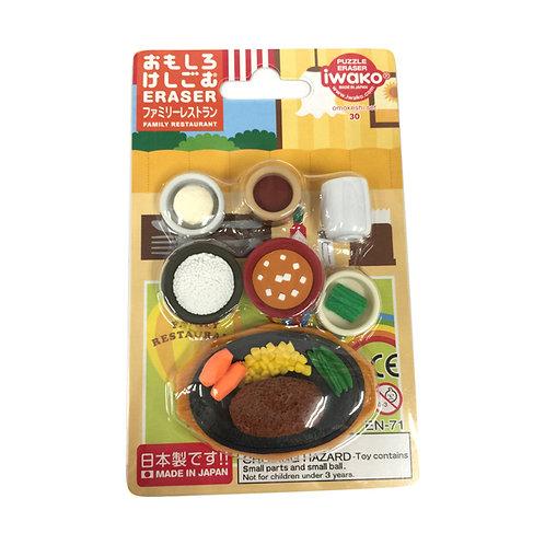 """Puzzle Eraser """"Family Restaurant"""" Iwako"""