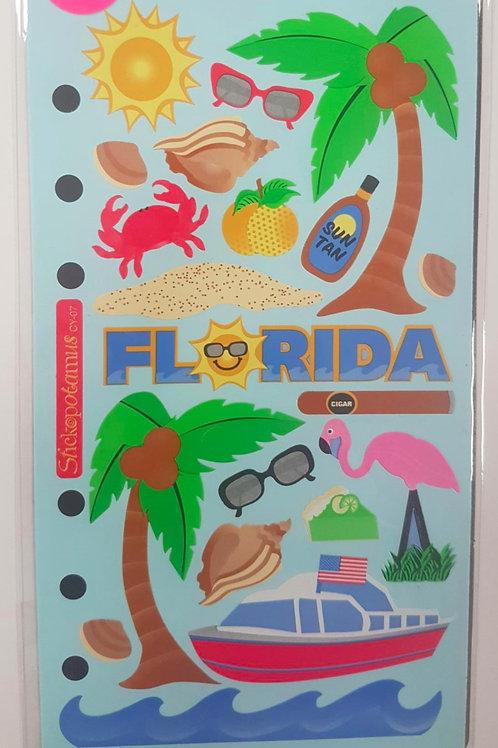 Planche de stickers - Florida