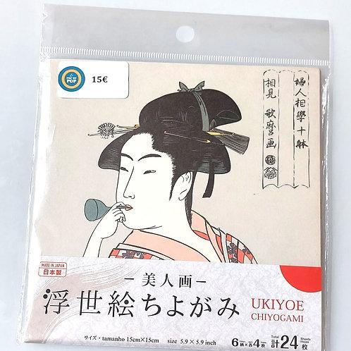 Papier origami - Femme japonaise