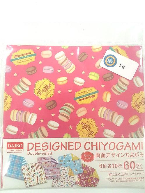Papier origami - Macarons