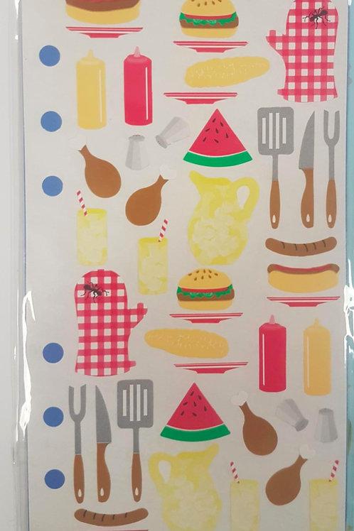 Planche de stickers - Pique-nique