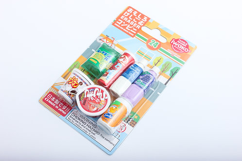 "Puzzle Eraser ""Drinks and Snack Foods"" Iwako"