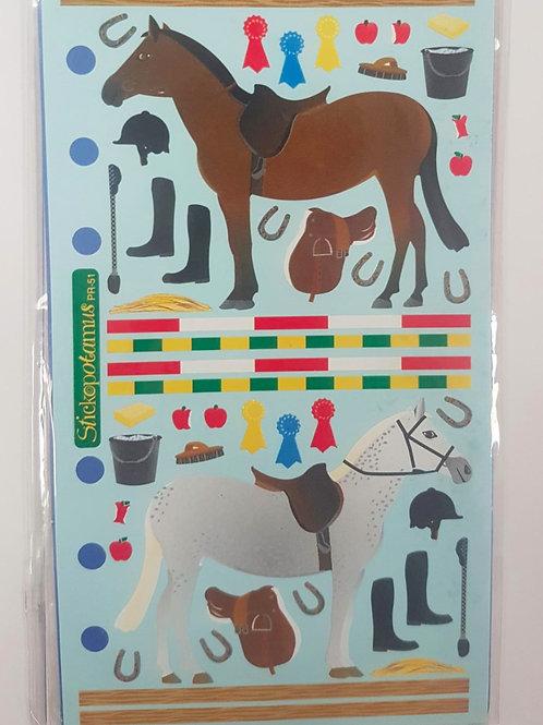 Planche de stickers - équitation