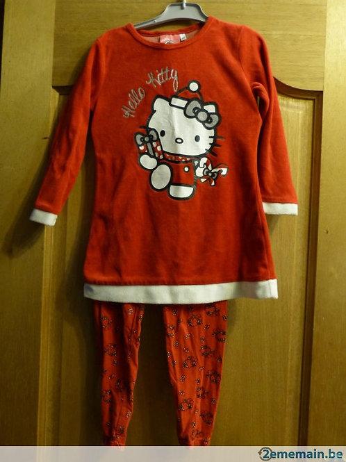 Pyjama Hello Kitty Noel 4-5 ans