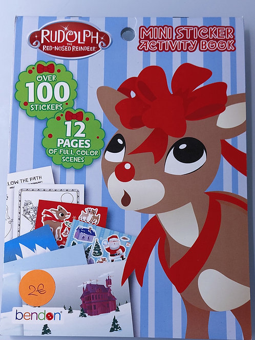 Cahiers d'activité stickers - Renne Noël