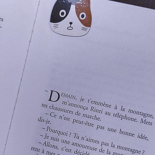 Marque-page chat marron & noir