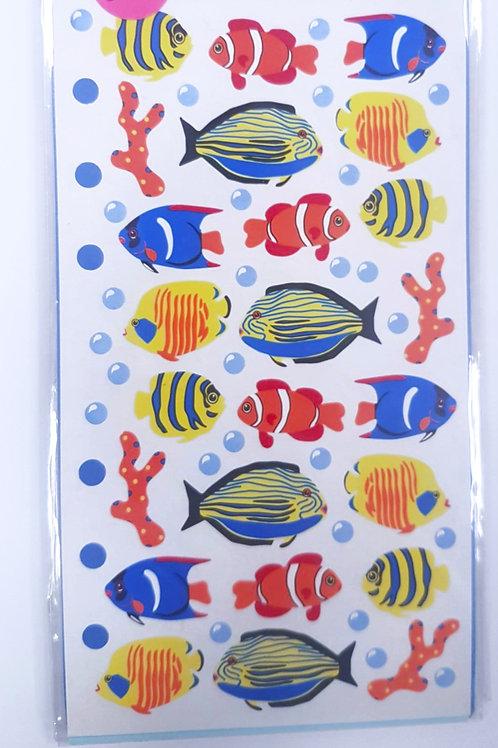 Planche de stickers - Poissons