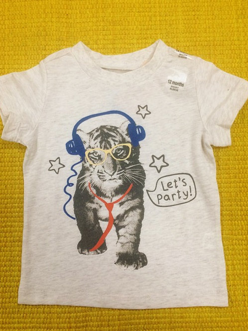 T-shirt tigre Let's party
