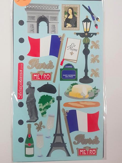 Planche de stickers - Paris