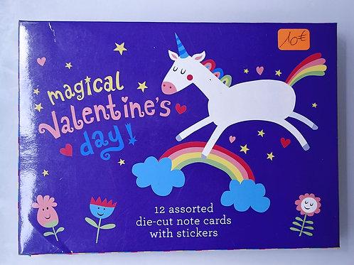 Pack 12 cartes et stickers - Licornes
