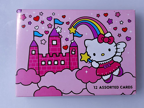 Pack 12 cartes Hello Kitty