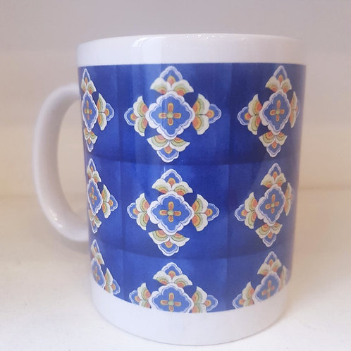 Mug - HOMEMADE BLUE SPANISH TILES PATTERN