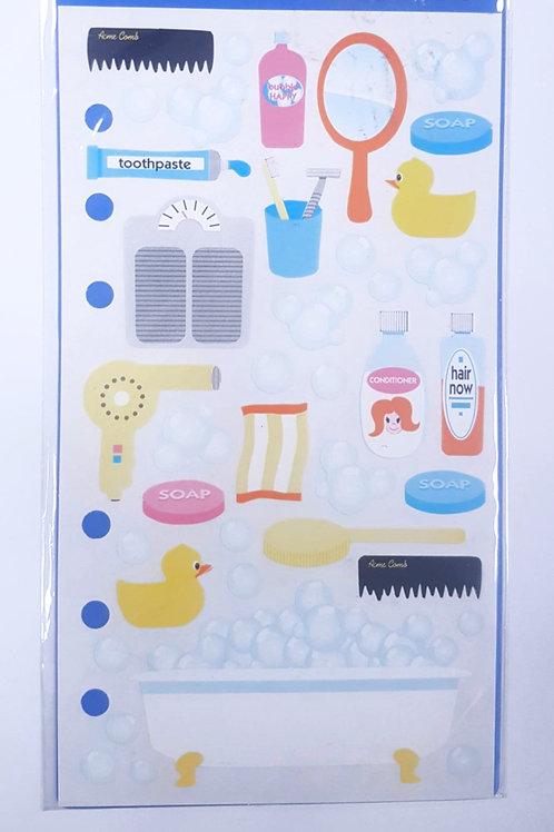 Planche de stickers - salle de bain