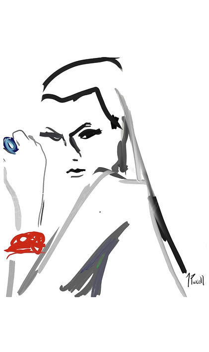 Karlie Kloss Fashion Illustration