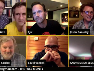 #82 The Full Monty Broadway Cast reunion with John Ellison Conlee, Jason Danieley, André De Shields, Angie Schworer, Romain Fruge, Marcus Neville, Patrick Wilson and David Yazbek