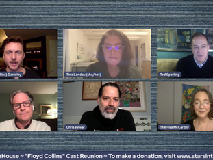 #310 FLOYD COLLINS Cast Reunion with Jason Danieley, Chris Innvar, Martin Moran, Theresa McCarthy, Cass Morgan,  Jesse Lenat, Tina Landau, Adam Guettel.  Donations tonight will be MATCHED up to $2,500 by The Angie Torres Charitable Trust!
