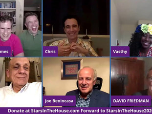 #147 Joe Benincasa, President & CEO of The Actors Fund, Tom Viola, Executive Director of Broadway Cares/Equity Fights AIDS, Christopher Gattelli and Vasthy Mompoint