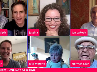 #65 One Day at a Time Cast with Rita Moreno, Justina Machado and executive producers Norman Lear and Brent Miller
