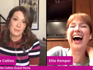 #97 Guest Host Michelle Collins with guests Karen Chee, Ellie Kemper, Kelly McCreary and Bryan Safi