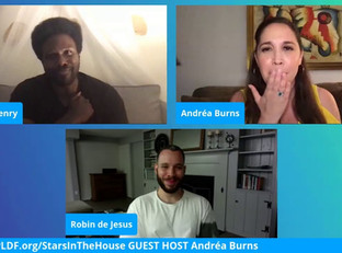 #138 Guest Host Andréa Burns and guests, Tony Award Nominees, Joshua Henry and Robin de Jesús  ​
