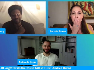 #137 Guest Host Andréa Burns and guests, Tony Award Nominees, Joshua Henry and Robin de Jesús  