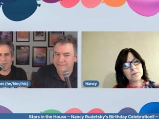 #334 Nancy Rudetsky's Birthday Celebration!!  We are celebrating Seth's sister with guests Mandy Gonzalez, Judy Kuhn, Jack Plotnick, Randy Rainbow, Marc Shaiman and Miranda Sings.   