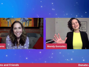 #85 Guest Host Andréa Burns joined by special guest Mandy Gonzalez