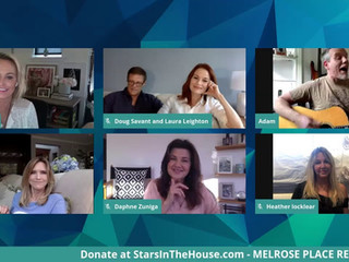 #74 Melrose Place Cast reunion with Josie Bissett, Thomas Calabro, Marcia Cross, Laura Leighton, Heather Locklear, Doug Savant, Grant Show, Andrew Shue, Courtney Thorne-Smith and Daphne Zuniga