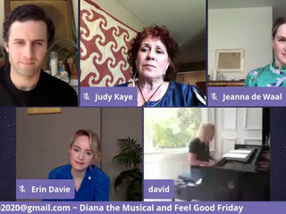 #102 Diana: A True Musical Story cast with David Bryan, Erin Davie, Roe Hartrampf, Judy Kaye and Jeanna de Waal.  Feel Good Friday segment with Blake Ross and guests.  ​
