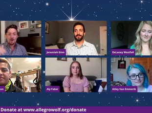 Regional Theatre Spotlight On: THE ALLEGRO WOLF ARTS CENTER  hosted by Taylor Eliason with Jeremiah Ginn and Delaney Westfall.  Joined by Alejandro Alarcon, Atley Van Emmerick and Aly Faber.
