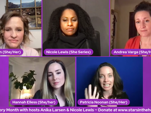 #314 Women's History Month:  What I Learned About Women's History Through The Roles I Played with guest co-hosts Anika Larsen and Nicole Lewis, joined by Ruthie Ann Miles, Andrea Varga, Hannah Elless, Annie Golden, Patricia Noonan and Saycon Sengbloh.