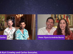 #142 Guest Host Andréa Burns.  It's Date Night!  Andréa is joined by her husband Peter Flynn along with Kurt Crowley and Carlos Gonzalez