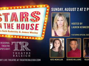 Regional Theatre Spotlight On: Theatre Raleigh.  Hosted by Lauren Kennedy Brady with guests Kate McMillan, Yolanda Rabun and Gerard Williams.