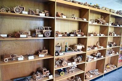 Norm Riley exhibit hall woodworking