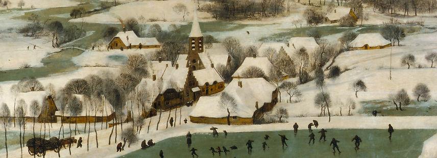 "Banquo Folk Ensemble Yule Concert 2017. Detail from ""Hunters in the Snow"" - Pieter Bruegel, the Elder"