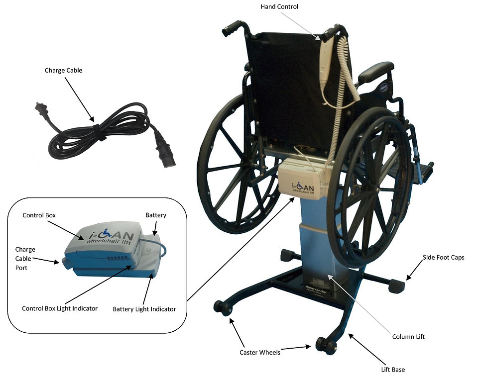 i-Can Wheelchair Lift parts