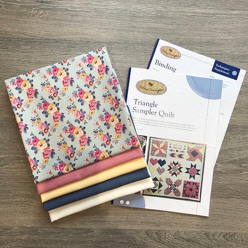 Triangle Sampler Quilt - Tilda Pauline Fabric Bundle and Instructions