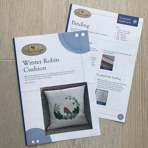 Winter Robin Cushion Pattern