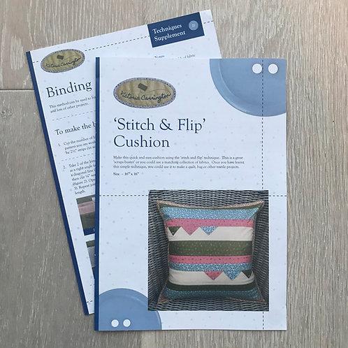 'Stitch & Flip' Cushion Pattern