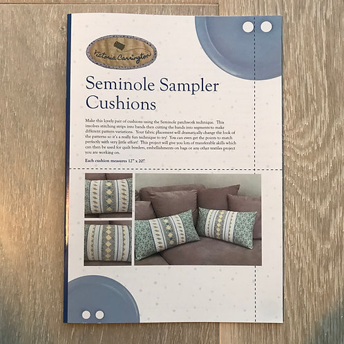 Seminole Sampler Cushions Pattern