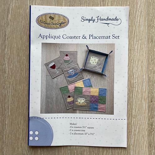 Applique Coaster & Placemat Set